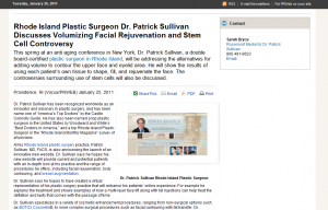 plastic surgery rhode island press release medical website design Rosemont Media