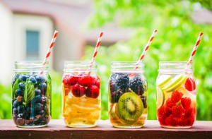 Water w Fruit Stock Image